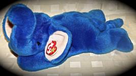"TY Beanie Buddy PEANUT Elephant Royal Blue Hang Tag 1998 Rare 15"" Buddie... - $23.36"