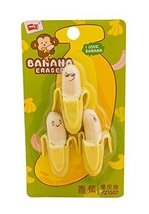 Interesting Banana Modeling Erasers Creative Student Supplies 4Pcs - $20.36