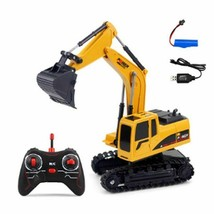 6CH RC Excavator Backhoes Bulldozer Digger Alloy Remote Control Model RC... - $39.95