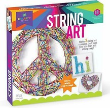 USA DEALS NOW String Art Kit Craft Kit 3 Large String Art Peace Sign Edi... - $18.63