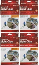 Lot 4x 25 Count Simple Living Innovations Universal Christmas Light Gutter Clips