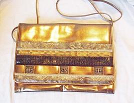VINTAGE CHIC 'JAPELLE BY SHILTON' 70S  80S CLUTCH OR SHOULDER BAG GOLDS ... - $15.39