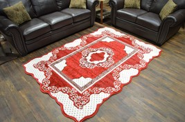 TWIST Free Shape 3D Hand Carved Traditional 5x8 5x7 Rug Oriental 4710 Red - $119.00
