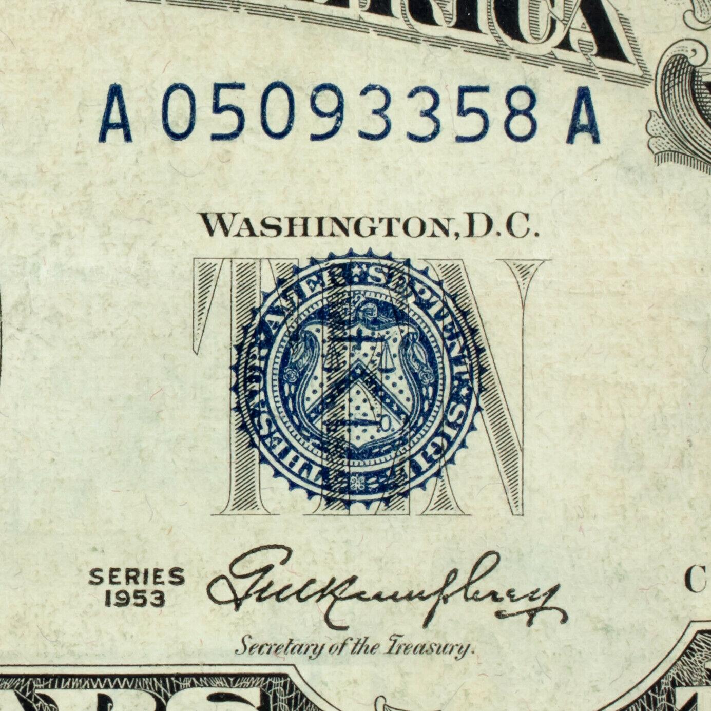 1953 Estados Unidos de Plata Certificado en Muy Buen Estado Fr# 1706