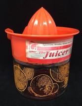 Vintage Gemco Glass Citrus Orange Lemon Juicer Hand Press Reamer Retro K... - $14.03