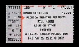 RARE Bill Maher 5/27/11 Jacksonville Florida Theatre Ticket Stub! - $5.99