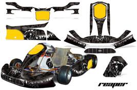 Go Kart Graphics Kit Decal Sticker Wrap For Tony Kart Venox REAPER BLACK - $197.95