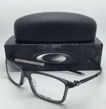 New OAKLEY Eyeglasses PITCHMAN OX 8050-0655 55-18 Grey Smoke & Black Frames/Demo