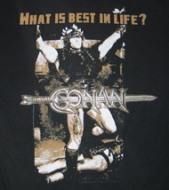 Conan The Barbarian Movie What is Best In Life? Quote T-Shirt Size Mediu... - $19.25
