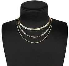 Bowisheet Layer Chevron And Figaro Chain Choker Necklace For Womens - $17.53