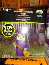 Halloween Inflatable Yard Decoration, 3.5 ft. Witch - $19.99