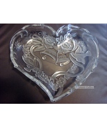 Wedding Gift Mikasa Crystal Special Moments Heart-shaped Candy Bowl  - $10.99