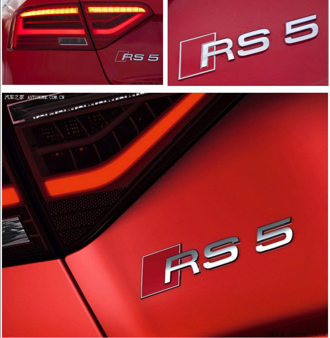 AUDI RS5 RS 5 Sticker Badge Auto Styling Logo Metal Car