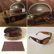 AUTHENTIC New Coach Designer SUNGLASSES Tortoise Frame w/ BROWN Hard Ca... - $114.99