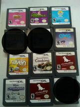Lot of 9 Nintendo DS Games for Kids nintendogs Raven OMG Kim possible Tested - $40.84
