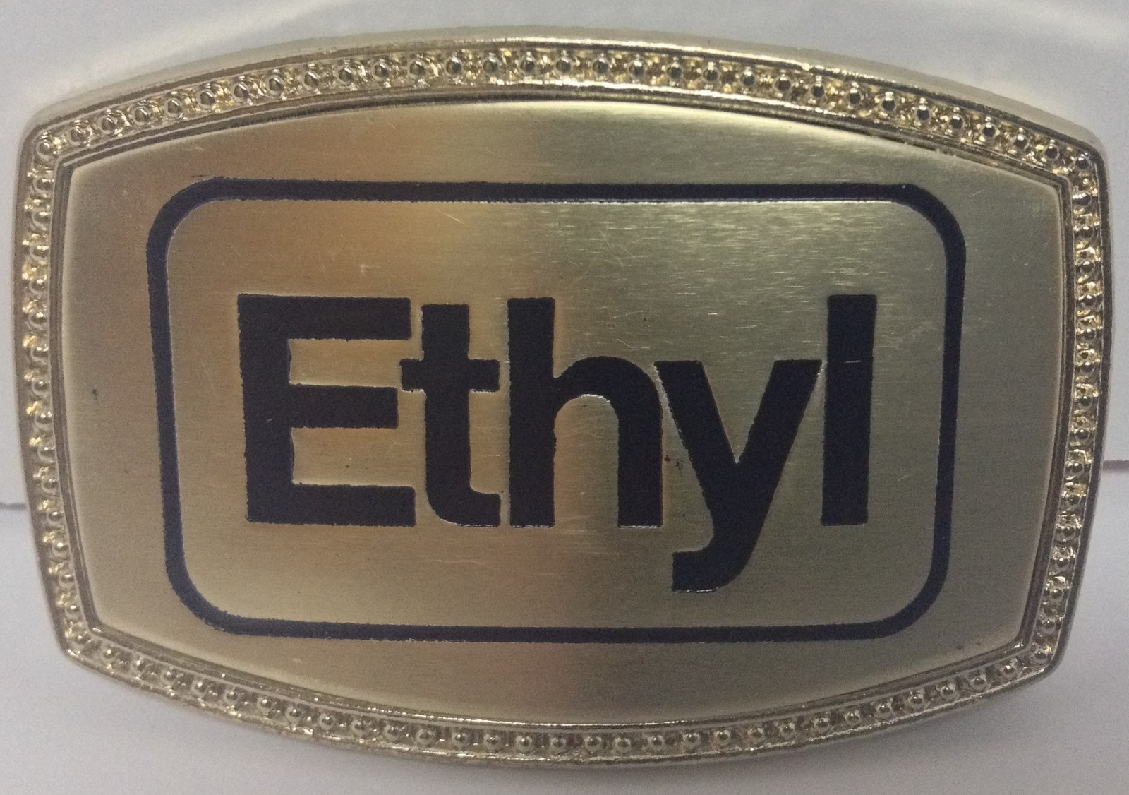 ETHYL Reproduction Belt Buckle NEW Americana