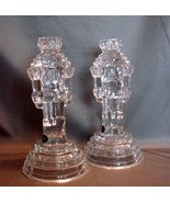 Pair of Nutcracker Soldiers Crystal Candle Hold... - $11.99