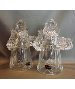 Pair of Santa Claus Crystal Candle Holders by International Silver - $12.99