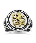 Norse Lion Mens signet Coin ring   Bluekorps No... - $103.95