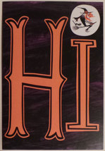 "Greeting Halloween Card "" HI "" Wart's New with you? - $1.50"