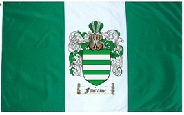 Fontaine Coat of Arms Flag / Family Crest Flag - $29.99