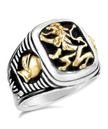 Bavarian Lion Knight Signet    sterling silver ... - $103.95