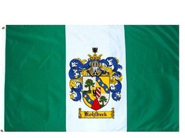 Kohlbeck Coat of Arms Flag / Family Crest Flag - $29.99