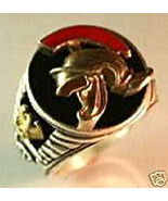 Roman Centurion Men's Signet ring,,Sterling Silver,Lg. - $60.00