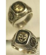 *Gold Lion Signet Sterling Silver ring  Lge. - $89.00