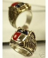 Texas st. flag Signet ring..Sterling Silver,Lge. - $86.00