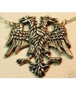 Russian Eagle Sterling Silver Ruby pendent - $52.00