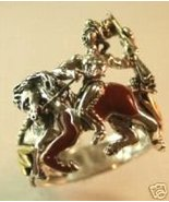 Chief CrazyHorse Comemerative Ring....Sterling ... - $96.00