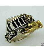 Abydos Temple Egyptian Lion ring 10 Karat gold ... - $229.00