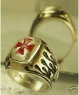 Knight's Templar Crusader ring...Sterling Silve... - $89.00