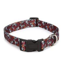 Casual Canine Polyester Bone Heads Dog Collar, ... - $14.20