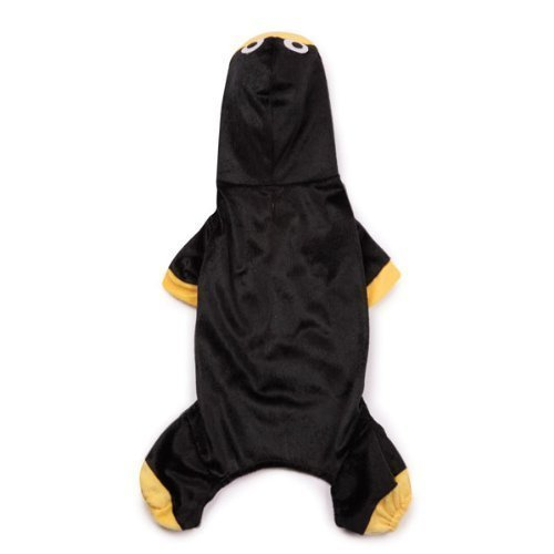 Zack & Zoey Polyester Penguin Pup Dog Costume, X-Small, Black