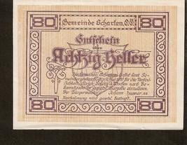 Austria Gutschein der Gemeinde SCHARTEN 80 Heller 1920 Maria Scharten um... - $4.00