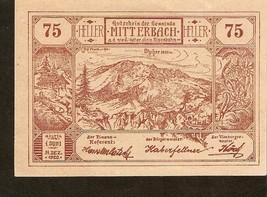 Austria Gutschein der Gemeinde MITTERBACH 75 Heller 1920 - $2.00