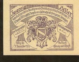 Austria Gutschein der Marktgemeinde WIESELBURG an der Erlauf 20 Heller 1920 - $2.00