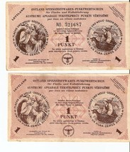 WW2 Germany Latvia 1945 1 punkt with & without No With Watermarks 100% Original - $280.00