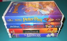 DISNEY VHS Lot of 4 Peter Pan Black Diamond Pin... - $24.70