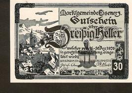notgeld Austria Gutschein der marktgemeinde EISENERZ 30 heller 1920 - $4.00