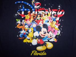 Disney Florida Mickey Minnie Cartoon Characters Navy Graphic T Shirt - Youth XL - $17.17