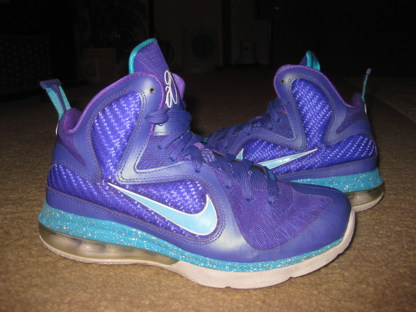90ed1ab47d4 S l1600. S l1600. Previous. NIKE LEBRON JAMES 9 GS SUMMIT LAKE HORNETS  472664-500 US SIZE 5Y KIDS NICE