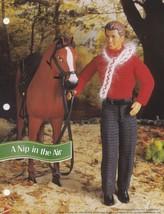 A Nip in the Air, Annie's Fashion Doll Clothes Crochet Pattern Leaflet F... - $1.95