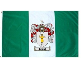Redlich Coat of Arms Flag / Family Crest Flag - $29.99