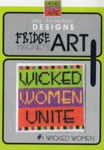 CLEARANCE Wicked Women #1 Fridge Art Magnet cross stitch Amy Bruecken Designs - $6.00