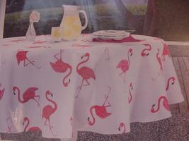 Envogue Pink Flamingo Indoor/Outdoor Tablecloth 60 x 84 Oblong - $32.00