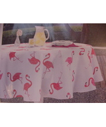 Envogue Pink Flamingo Indoor/Outdoor Tablecloth 60 x 84 Oblong - $32.00