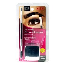 Kiss i Envy All in One Brow Pomade Tinted Eyebrow Gel Waterproof Brush S... - $6.99
